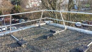 Absturzsicherung auf dem Dach im Detail